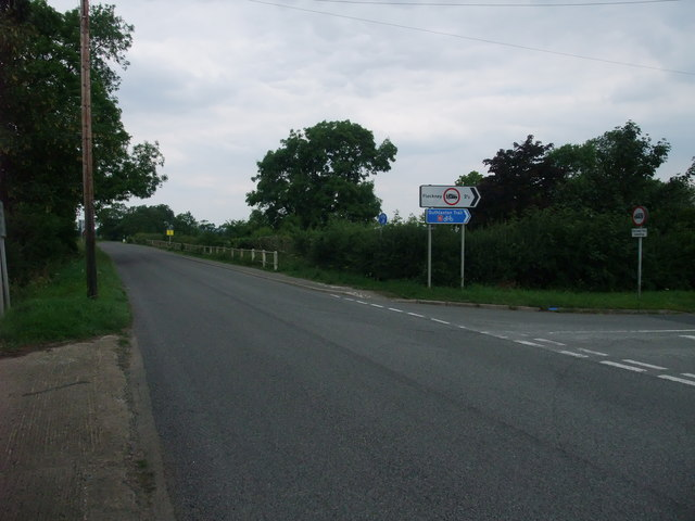 Fleckney Road joining the A5199