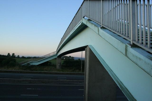 Motorway footbridge