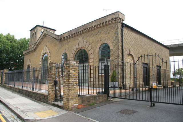 Former East India Dock hydraulic pumping station