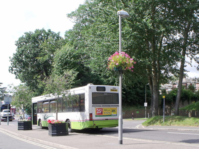 Countryliner bus waits in Keymer Road, Hassocks