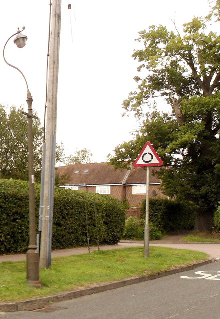 Roundabout sign, Cuckfield
