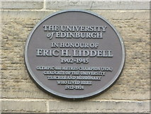 NT2572 : Eric Liddell plaque, George Square by kim traynor