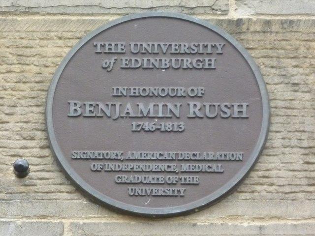 Benjamin Rush plaque, George Square