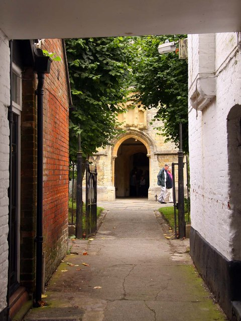 Alley to St Michael and All Angels Church