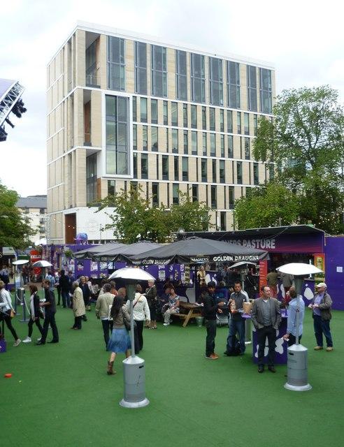 Bristo Square during the Festival