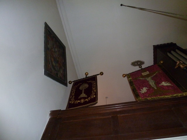 Church of the Assumption of the Blessed Virgin Mary Upper Froyle- hatchment and banners