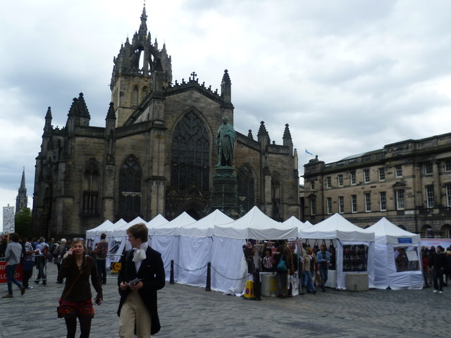 St. Giles market during the Festival