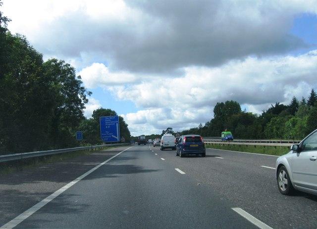 M27, Cadnam turning