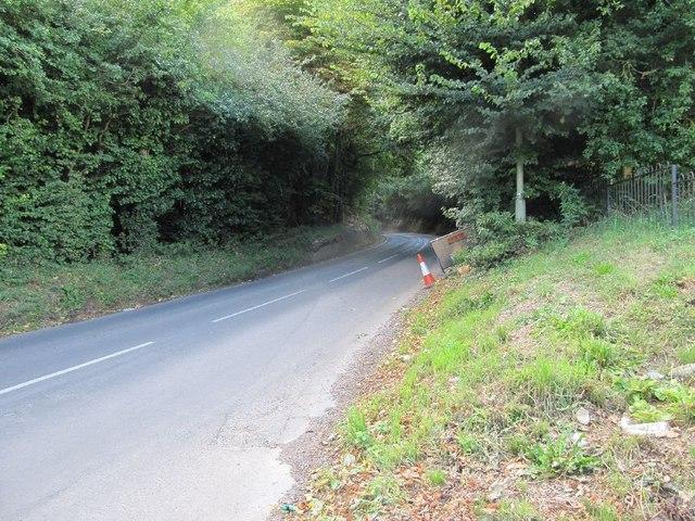 Bend on Ickleton Road