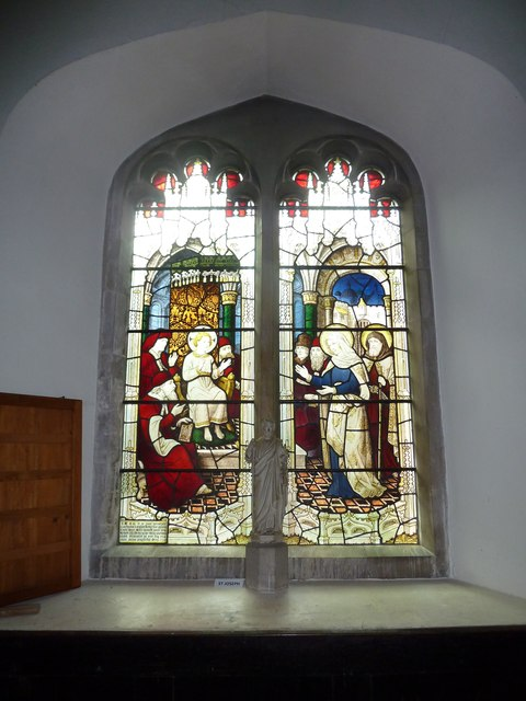 Church of the Assumption of the Blessed Virgin Mary Upper Froyle- stained glass window (6)