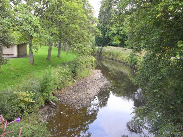 Pendle Water at the B6249 Carr Road, Nelson