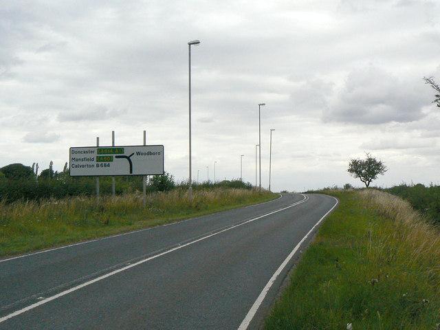 Approach to Woodborough turn