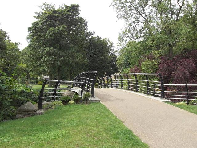 New Footbridge, Victoria Park, Nelson, Lancashire