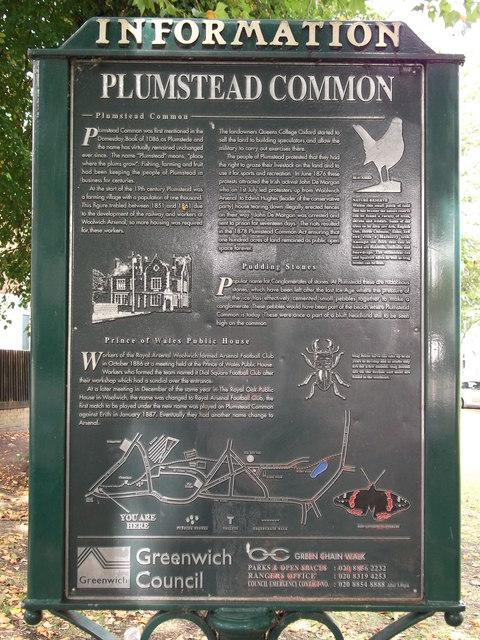 Plumstead Common Information Panel