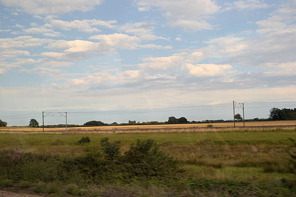 Across Brumber field to East Coast Main line