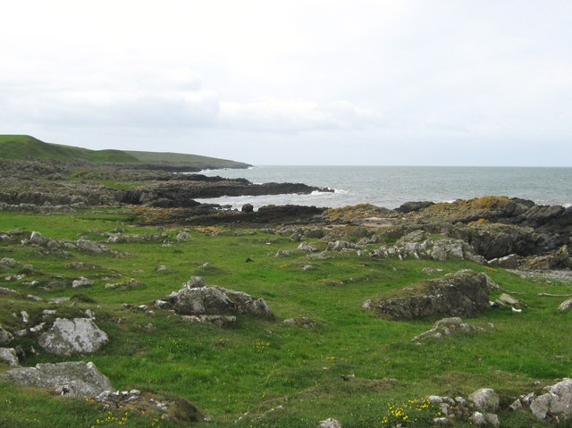 Looking down the coast towards Castle Ban
