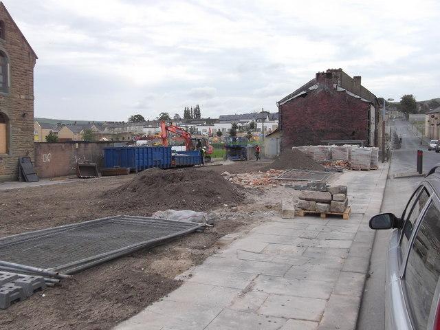Demolition of Branch Road, Burnley Wood, Burnley