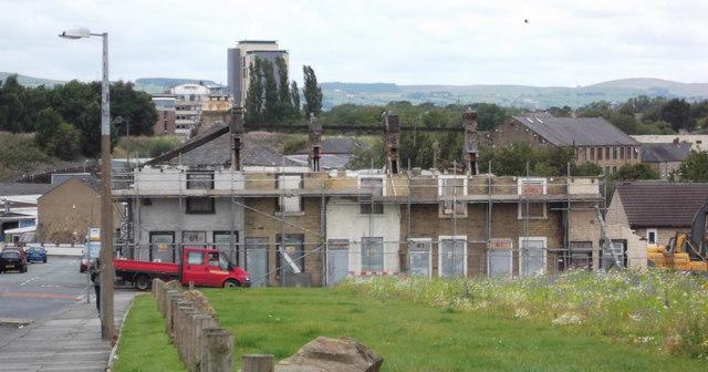 Demolition of Parliament Street, Burnley Wood, Burnley