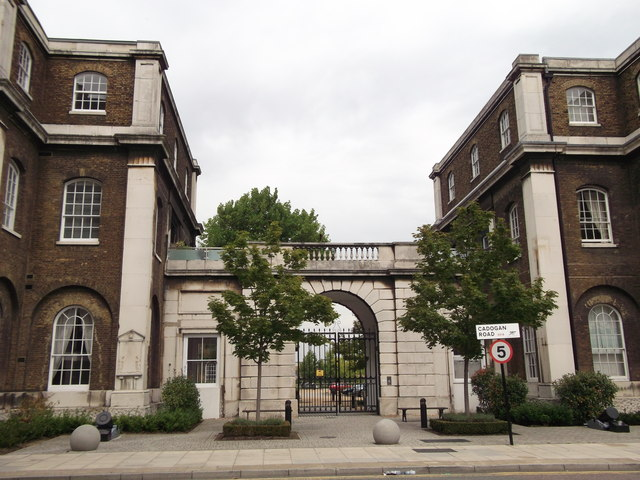 Gateway between Building 37 and Building 36, Royal Arsenal