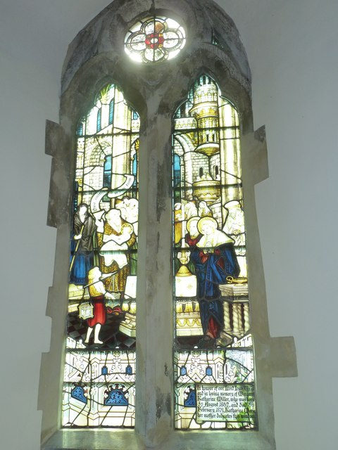 Church of the Assumption of the Blessed Virgin Mary Upper Froyle- stained glass window (9)