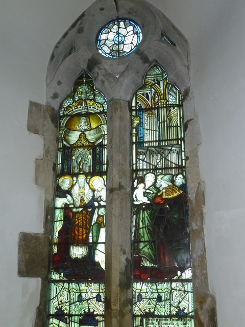 Church of the Assumption of the Blessed Virgin Mary Upper Froyle- stained glass window (11)