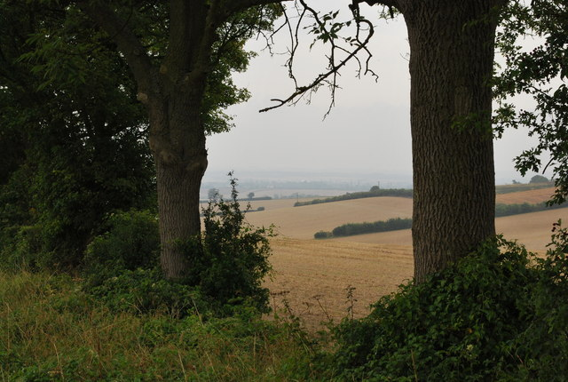 Looking across the landscape towards Hitchin