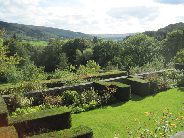View from the terrace at Parcevall Hall