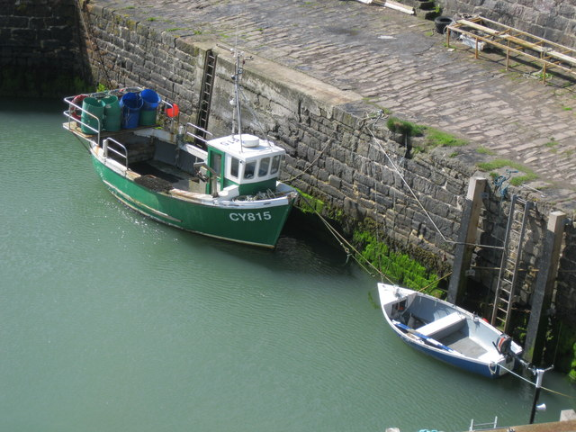 Boats in Keiss Harbour