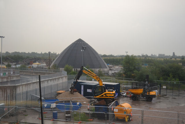 Works site near Cheadle Hulme