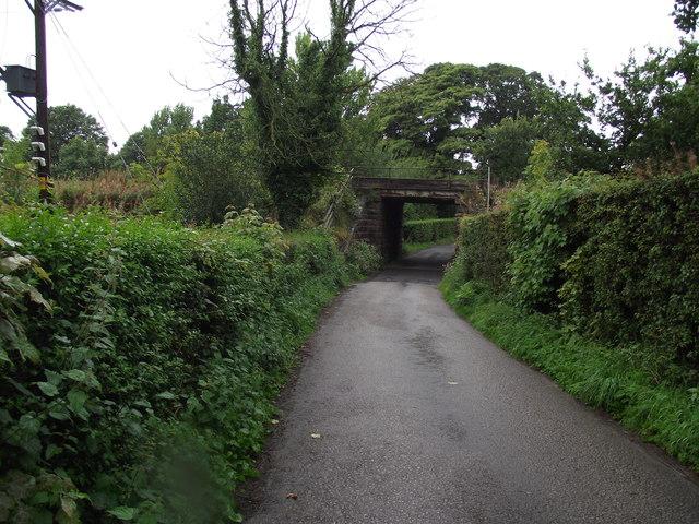 Lane leading to St. Joseph's Church, Brindle