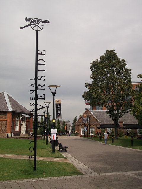 Royal Arsenal Riverside Sign