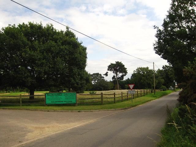 Entrance to Waldringfield Golf Club