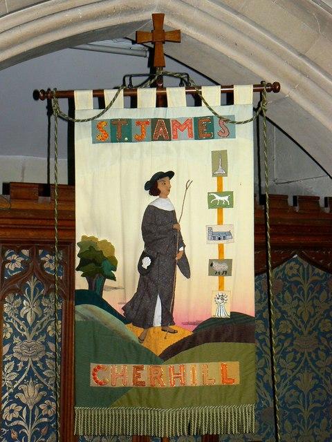 Banner, Church of St James, Cherhill