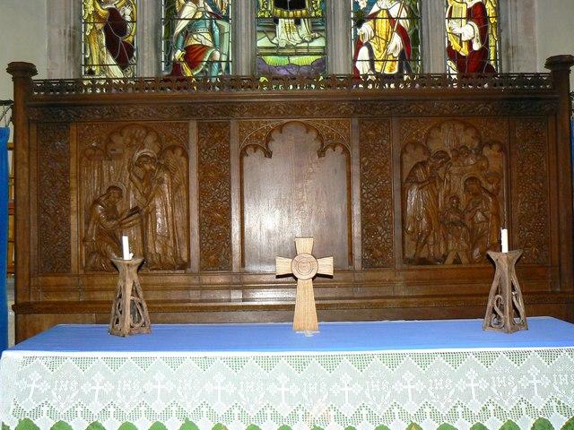 Reredos, Church of St James, Cherhill