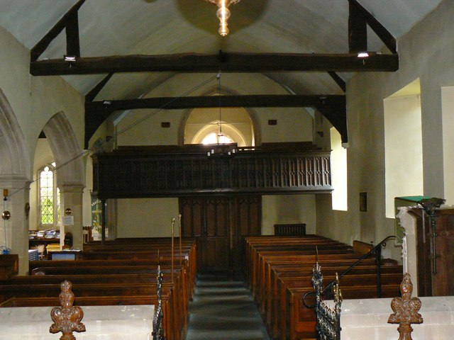 West inside the Church of St James, Cherhill