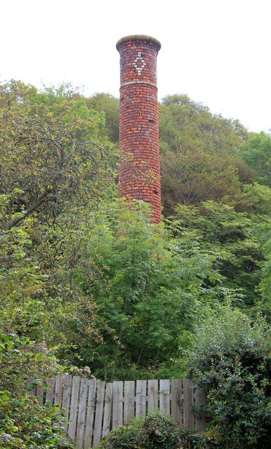 Chimney of the pyroligneous acid works.