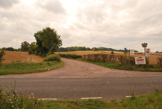 Junction Hitchin road and Private Estate Track