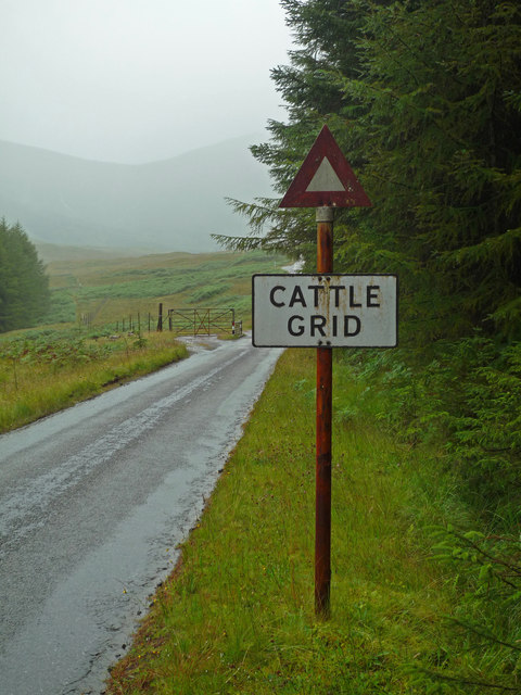 Pre-Worboys cattle grid sign