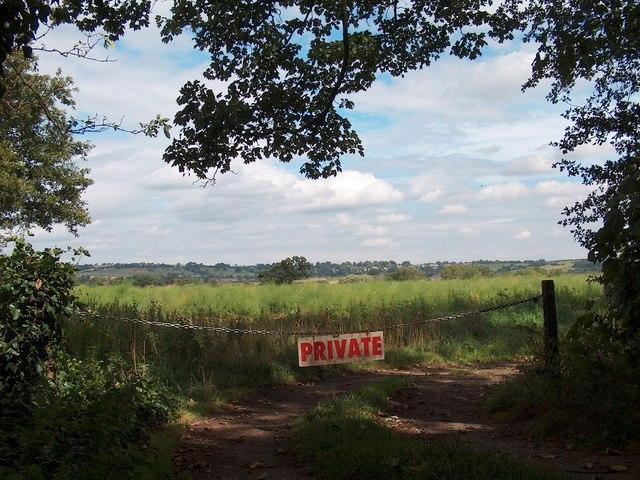 Farmland north of the River Wharfe near Harewood Bridge