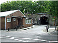 ST5971 : Windmill Close railway bridge by Thomas Nugent