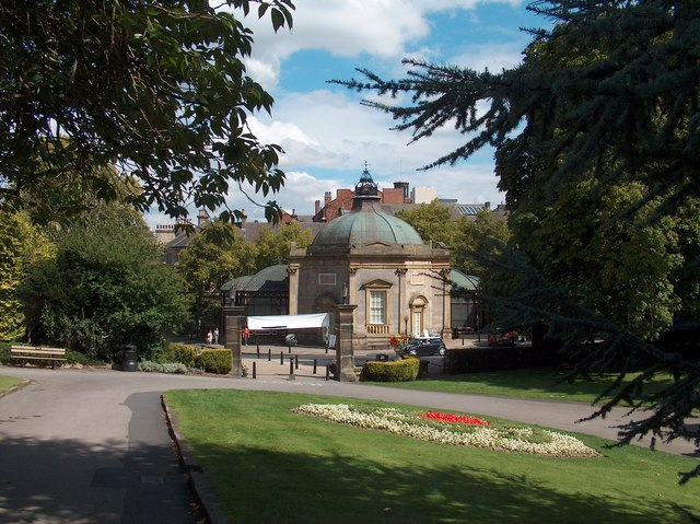 Harrogate - The Pump Room from Valley Gardens