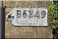 NU1033 : Pre-Worboys pointer sign, Belford by Ian Capper