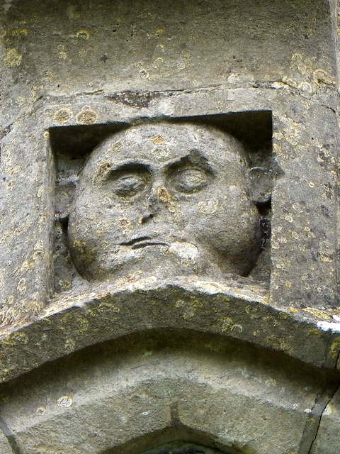 Face above the window, All Saints' Church