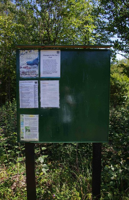 Noticeboard in Trench Wood, near Sale Green