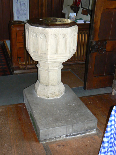 Font, Church of St James, Cherhill