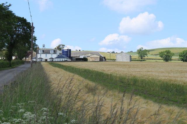 Farm land at Halhill.