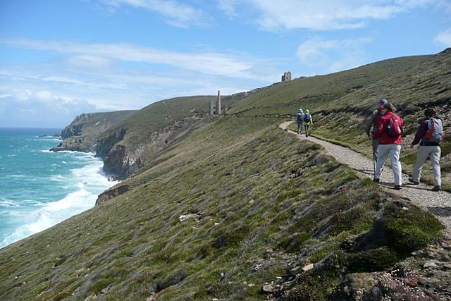 Coast path north of Chapel Porth