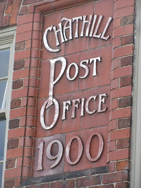 Detail, Chathill Post Office