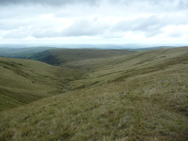 View down the Nant Melyn valley
