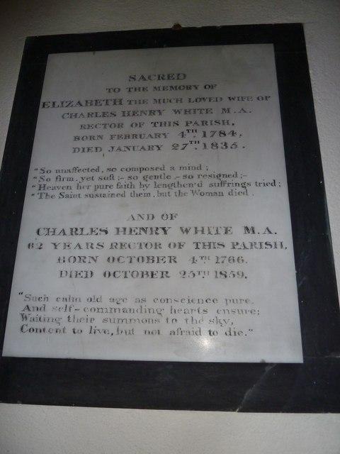 St Peter & Paul, Shalden: memorial (A)